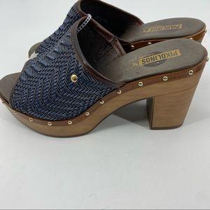 Pikolinos leather Saint platform clog 40/9.5